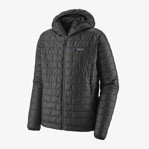 Patagonia Nano Puff Hoody in Forge Grey - Medium - NEW with tags